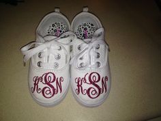 Everyone loves a monogram. Glitter heat transfer vinyl.