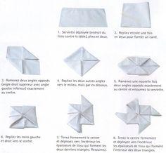 pliage serviette moulin a vent