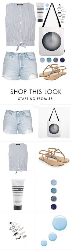 """OOTD - Blue"" by by-jwp ❤ liked on Polyvore featuring Topshop, Warehouse, Accessorize, Pirette and Terre Mère"