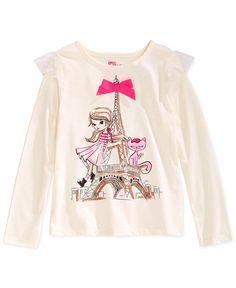 Epic Threads Little Girls' Mix & Match Paris Girl Long-Sleeve T-Shirt, Only at Macy's Little Girl Fashion, Baby Boy Fashion, Kids Fashion, Girls Tees, Shirts For Girls, Kids Outfits, Cute Outfits, Paris Girl, Disney Shirts For Family