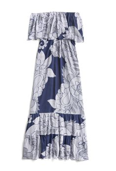 Stitch Fix Spring Stylist Picks: Strapless floral maxi dress