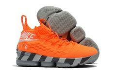 cfa2fa8ff8b New Style Nike LeBron 15 Mens Original Basketball Shoes Sneakers Orange  Silver Grey Basketball Shoes On