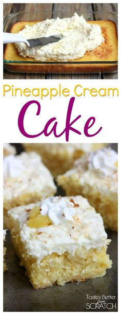 Pineapple Cream Cake is my favorite summer cake! Recipe from TastesBetterFromScratch.com