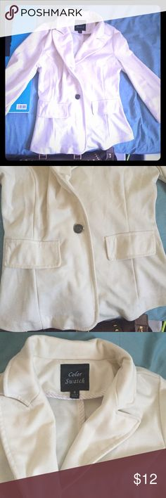 Worn once!!!! Like new! Off white color! Blazer! Size small off white blazer! Worn once!!!! Jackets & Coats Blazers