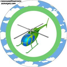 Helicopter - Complete Kit with frames for invitations, labels for goodies, souvenirs and pictures! | Making Our Party