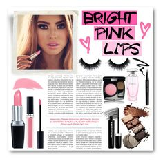 """""""Bright Pink Lips"""" by lalalaballa22 ❤ liked on Polyvore featuring beauty, Eyeko, Bobbi Brown Cosmetics, Marc Jacobs, Stila, Isadora, Christian Dior, Chanel and Balmain"""