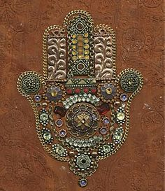 Hamsa/Eye of Fatima Hamsa Art, Hand Of Fatima, Jewish Art, Star Of David, North Africa, Decoration, Weaving, Symbols, Gemstones