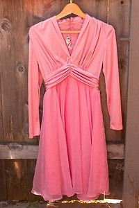 Vintage 1960's Miss Elliette Long Sleeve Pink Dress-$32  Free Shipping!  The perfect Pretty In Pink Prom dress! Comfortable, retro, and stunning, this flowy dust rose Miss Elliette California dress is sure to impress.  http://www.ebay.com/itm/Vintage-1960s-Miss-Elliette-Long-Sleeve-Pink-Dress-/321186293619?pt=Vintage_Women_s_Clothing=item4ac831e773