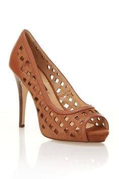 PA by Pilar Abril Sabadell Elegant High Heel Shoe In Tan - I want shoes like these next spring!!!!