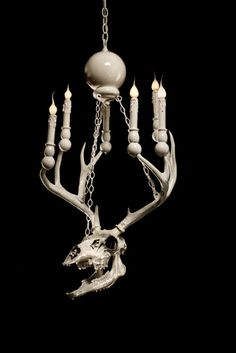 Creepy chandeliers designed by Adam Wallacavage