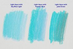 How to Draw a Clear Sky with Colored Pencil - Color Swatches