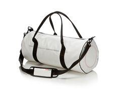 #luftstoff carrierbag tube big mit Barcode | Weiß | 100% Original Airbag Material  Netzfutter  wasserabweisend  handwaschbar  2 Reißverschluss-Innentaschen