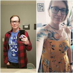 Post with 15560 views. Seeing the real me after 17 months is a great feeling :D Male To Female Transition, Transgender Mtf, Trending Memes, Ruffle Blouse, Feelings, Beautiful, Tops, Women, Fashion