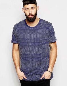 Imagen 1 de Camiseta larga con estampado de líneas rotas de Waven
