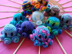 Kawaii Octopus Amigurumi - very cute, but I doubled the length of the tentacles from the pattern