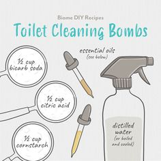 Cleaning the toilet certainly isn't the most exciting job in the world, but these DIY natural toilet cleaning bombs make it just that little bit easier and saves you from resorting to harsh bleach and chemicals.⁠  Check out our website for the full recipe. Green Cleaning Recipes, Bomb Making, Helpful Hints, Handy Tips, Make Your Own, How To Make, Toilet Cleaning, Biomes, Diy Cleaning Products