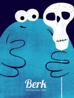 Berk - The Trap Door  Art Print