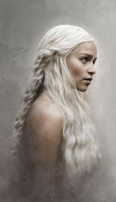 Game of Thrones Fanart Wallpaper, Daenerys Targaryen, Mutter der Drachen, Khaleesi Art Game Of Thrones, Dessin Game Of Thrones, Clarke Game Of Thrones, Game Of Thrones Dragons, Game Of Thrones Quotes, Game Of Thrones Khaleesi, Khaleesi Hair, Emilia Clarke Daenerys Targaryen, Game Of Throne Daenerys