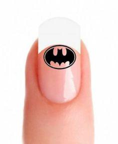 Sassy-Nailz Super Hero Batman Nail Art Transfer Decal Wrap For False Acrylic Gel or Natural Nails Batman Nail Art, Bat Symbol, Acrylic Gel, Natural Nails, Fun Nails, Nail Colors, Nail Designs, Make Up, Sassy