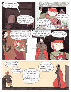 Nimona chapter 4 - page 3 | Gingerhaze  http://gingerhaze.com/nimona/comic/nimona-chapter-4-page-3