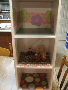 DIY dollhouse could use old cd shelf