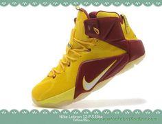 684593-015 Nike Lebron 12 P.S. Elite Amarelo/Vermelho