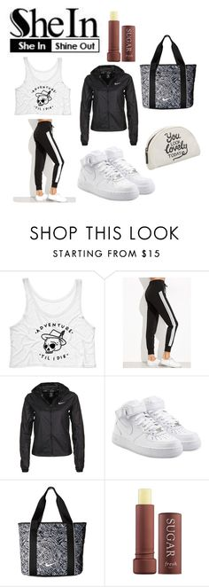 """""""striped sweat pants"""" by soapymarlboro ❤ liked on Polyvore featuring NIKE, Fresh and shein"""