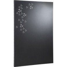 Plaque de protection murale acier laqué EQUATION pétale noir sablé L.80xH.120cm