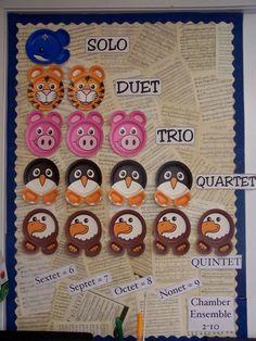 HeritageMusicClassroomAugust ensemble bulletin board