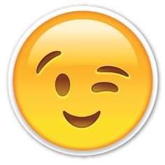 Winking Face | EmojiStickers.com