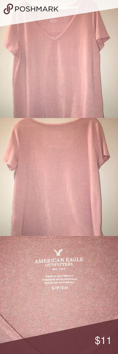 AEO TOP Super cute and super soft pink AEO top can be paired with a jeans shorts or leggings and you'll look so cute!! No signs of wear  Probably wore it only 3 times PS:Open to offers!! PPS:Please message me before purchasing #cute #top #aeo #flowy #pinkp American Eagle Outfitters Tops Blouses
