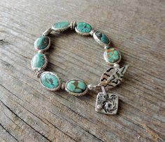 Artisan Jewelry Artisan Silver Bracelet by DianesAddiction on Etsy