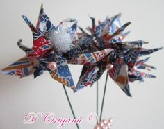 Shop for origami on Etsy, the place to express your creativity through the buying and selling of handmade and vintage goods. Origami Decoration, 4th Of July Wreath, Christmas Wreaths, Spring, Holiday Decor, Creative, Handmade, Etsy, Spring Bouquet