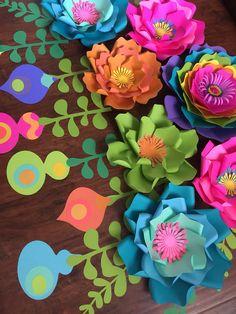 Paper Flowers Paper Flower Backdrop trolls paper flowers
