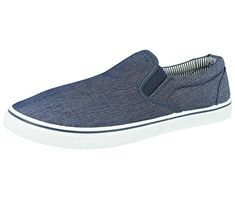 0c8070c660fb Foster Footwear. Mens Boston Canvas Slip On Casual Plimsoll Espadrille Pumps  Loafers Deck Trainers Shoes