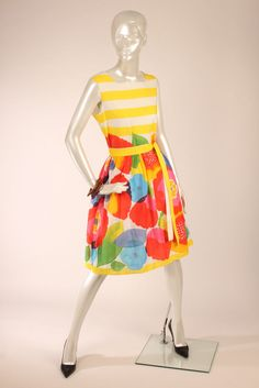MARIMEKKO Multicolor Abstract Floral Sleeveless Dress Size L