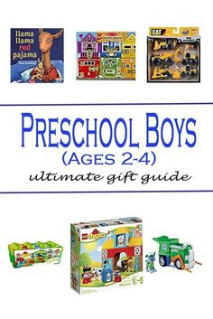 Best Gift Guide for Preschool Boys Ages 2-4 - Cook With a Shoe