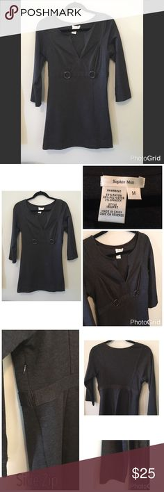 Sophie Max Dress / Tunic in Gray. NWOT NWOT. Never Worn. Sophie Max short dress or tunic. Wear with tights or leggings. Side zip. Three quarter sleeves. Sophie Max Dresses Mini
