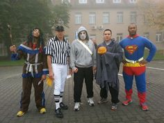Me and my buddies last Halloween.