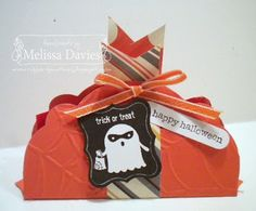 SU!pplies: Stamps: Tricky Treats, Teeny Tiny Wishes Ink: Basic Black Cardstock: Tangerine Tango, Whisper White Accessories: Pumpkin Pie ribb...