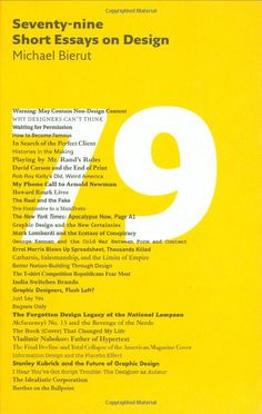 I'm sure you haven't missed out on this : Seventy-nine Short Essays on Design by Michael Bierut #RecommendedRead #FavRead