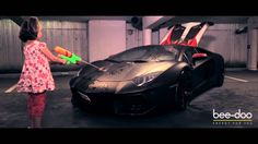 Iron Man Lambo on fire´n ice changes the color by temperature HD HQ
