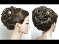 Bridal hairstyle for long hair tutorial. Wedding Updo Bridal hairstyle for long hair tutorial. Wedding Hairstyles Tutorial, Wedding Hairstyles For Long Hair, Trendy Hairstyles, Prom Hairstyles, Hairstyle Tutorials, Gorgeous Hairstyles, Hairstyle Ideas, Prom Hair Medium, Medium Hair Styles