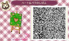 *とび森*゜マイデザイン☆ハート&バラの芝生☆QRコード の画像|☆ゆのめろ☆ココット村*゜森ブログ☆