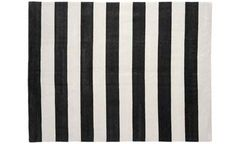 madeline weinrib striped rug (maybe not black, but definitely love her rugs)