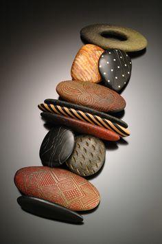 Carved Stone Sampler Bracelet