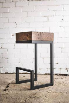 Bar chair / Oak chair / Industrial bar chair / Industrial