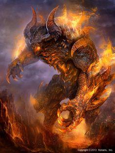 Vermelho - Transformação Monstruosa - Caos Flamejante