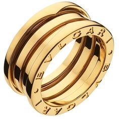Pre-owned Bvlgari B.zero1 Ring 3 Band Yellow Gold An191023 (89.865 RUB) ❤ liked on Polyvore featuring jewelry, rings, accessories, yellow, band jewelry, band rings, gold jewelry, yellow ring and yellow gold jewelry
