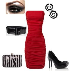 Red done Right, created by adwhitt on Polyvore